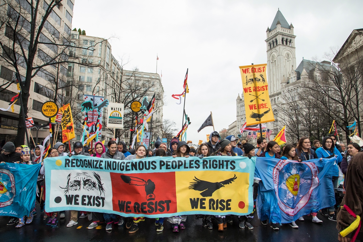 Thousands Rally in Support of Native Nation in Washington D.C. © Amanda J. Mason / Greenpeace