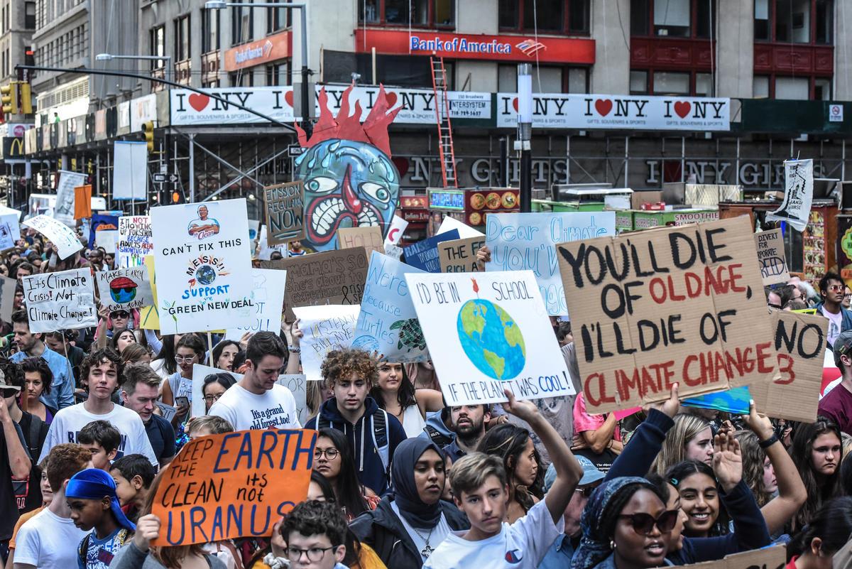 Global Climate Strike in New York. © Stephanie Keith / Greenpeace