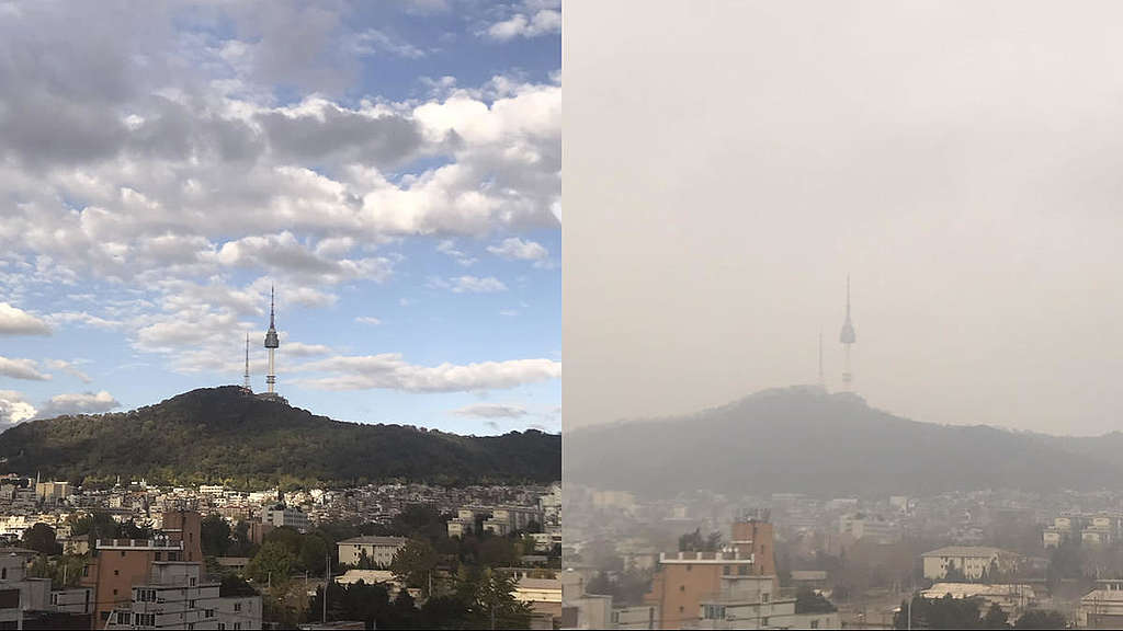 Namsan in Serious Ultrafine Dust  Soojung Do  Greenpeace