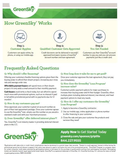 Green Sky Financing Process