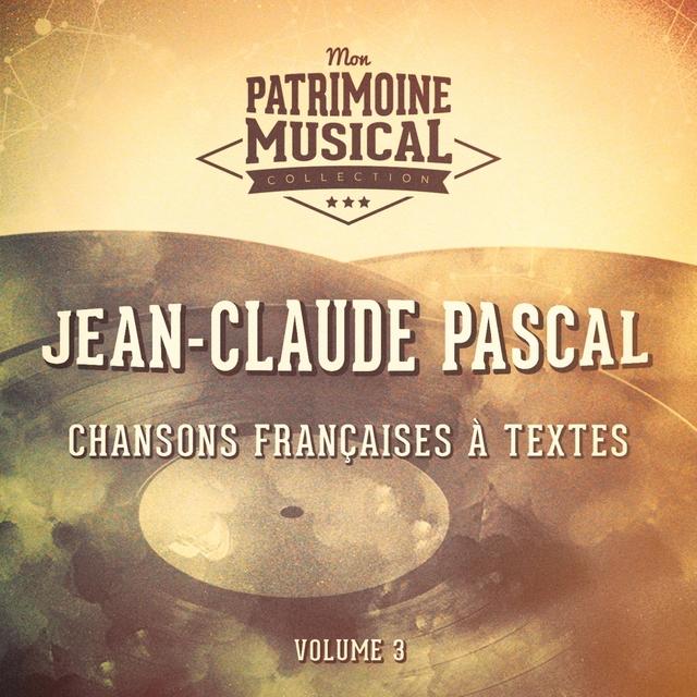 Couverture de Chansons françaises à textes : Jean-Claude Pascal, Vol. 3