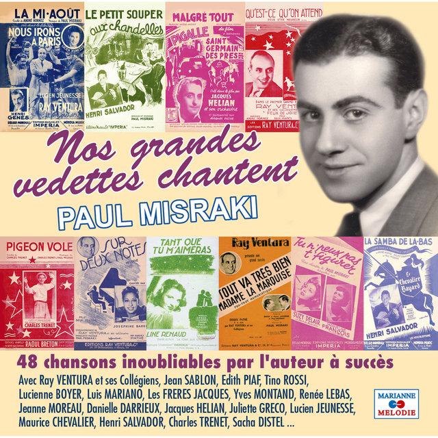 Couverture de Nos grandes vedettes chantent Paul Misraki