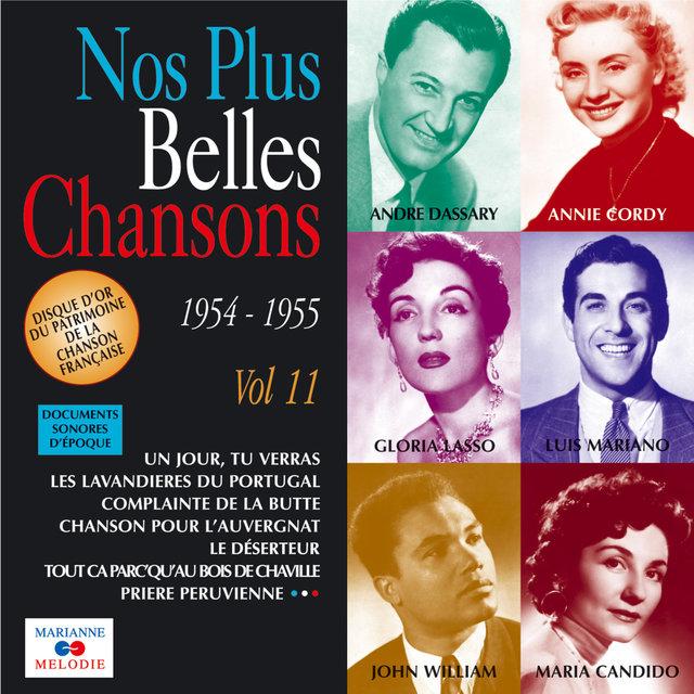 Couverture de Nos plus belles chansons, Vol. 11: 1954-1955