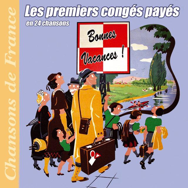 """Couverture de Les premiers congés payés en 24 chansons (Collection """"Chansons de France"""")"""
