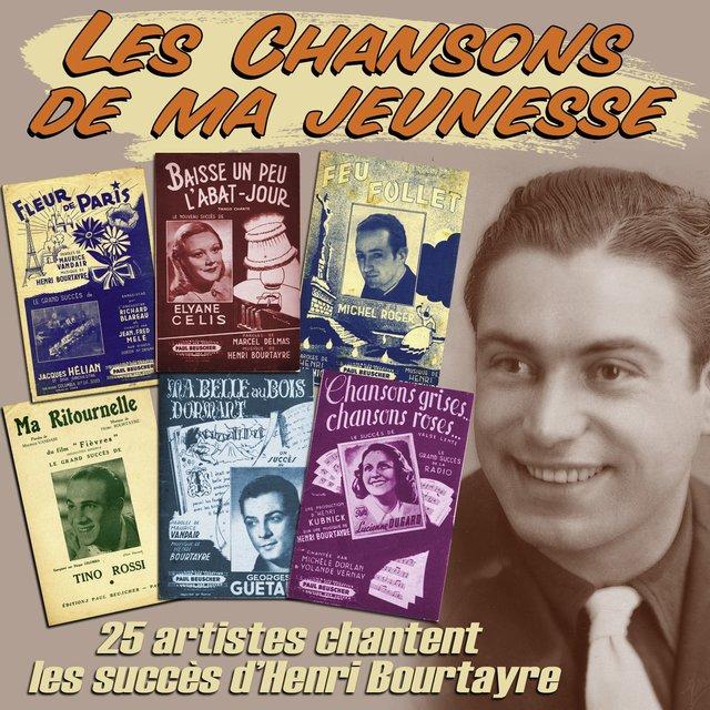 """Couverture de 25 artistes chantent les succès d'Henri Bourtayre (Collection """"Les chansons de ma jeunesse"""")"""
