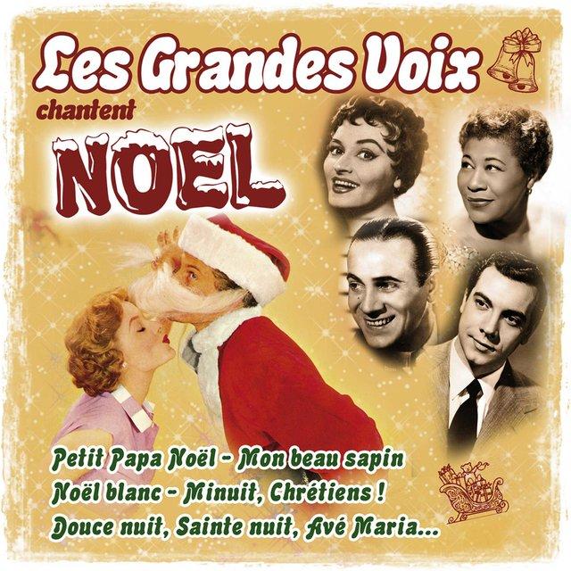 Couverture de Les grandes voix chantent Noël