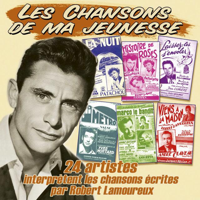 """Couverture de 24 artistes interprètent les chansons écrites par Robert Lamoureux (Collection """"Les chansons de ma jeunesse"""")"""