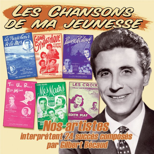 """Couverture de 24 artistes interprètent les succès de Gilbert Bécaud (Collection """"Les chansons de ma jeunesse"""")"""