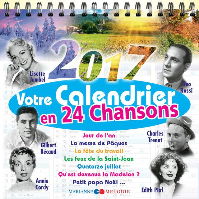 Couverture de Votre calendrier 2017 en 24 chansons
