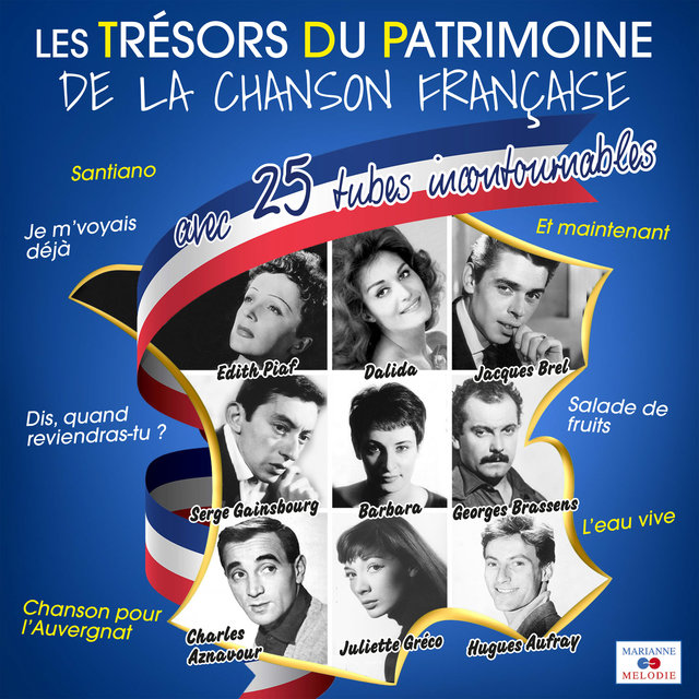 Couverture de Les trésors du patrimoine de la chanson française