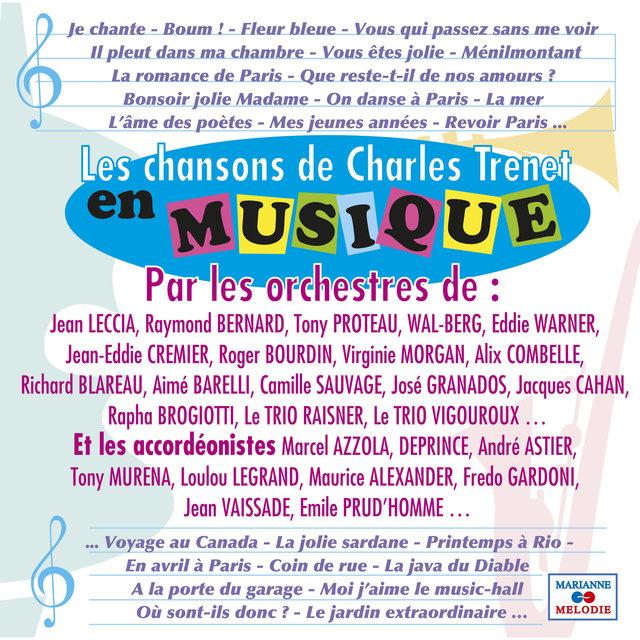 Les chansons de Charles Trenet en musique