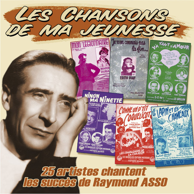 """Couverture de 25 artistes chantent les succès de Raymond Asso (Collection """"Les chansons de ma jeunesse"""")"""