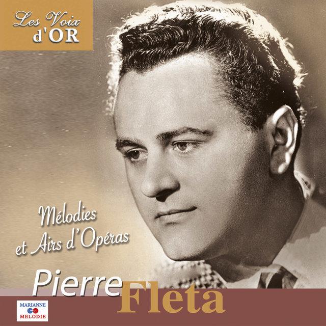 """Couverture de Pierre Fleta, mélodies et airs d'opéra (Collection """"Les voix d'or"""")"""