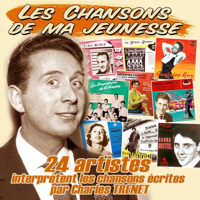 """Couverture de 24 artistes interprètent les chansons écrites par Charles Trenet (Collection """"Les chansons de ma jeunesse"""")"""