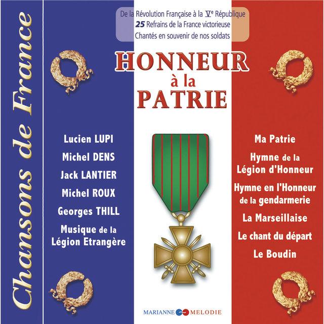 """Couverture de Honneur à la patrie (Collection """"Chansons de France"""")"""