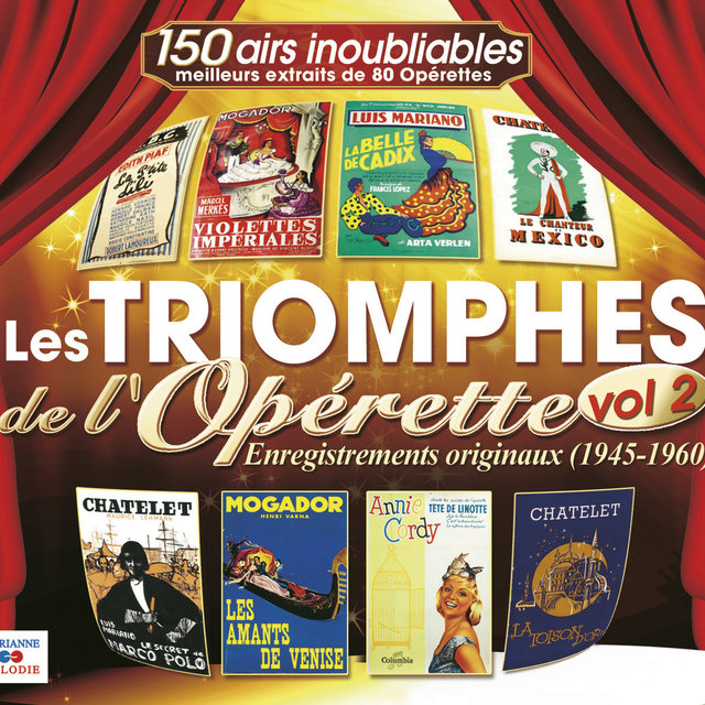 Couverture de Les triomphes de l'opérette, Vol. 2 (1945-1960)