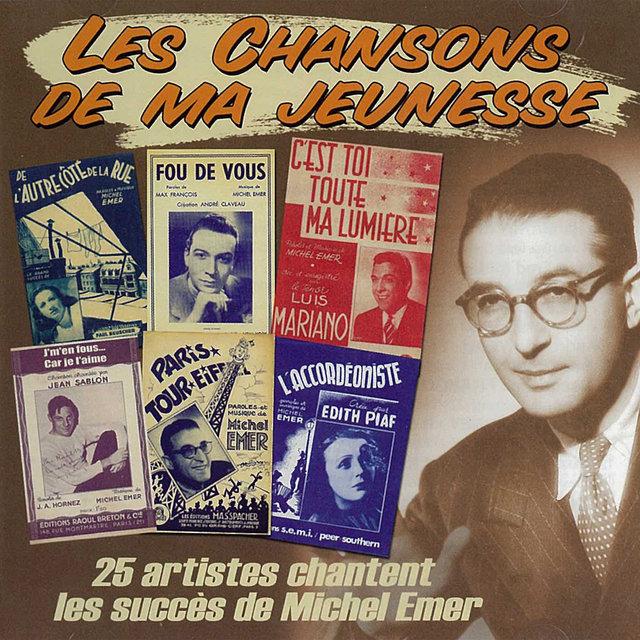 """Couverture de 25 artistes chantent les succès de Michel Emer (Collection """"Les chansons de ma jeunesse"""")"""