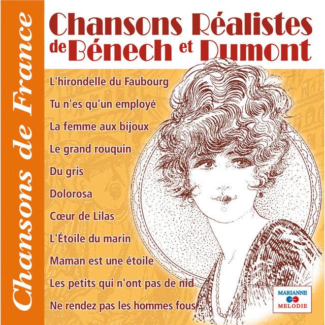 """Couverture de Chansons réalistes de Bénech et Dumont (Collection """"Chansons de France"""")"""