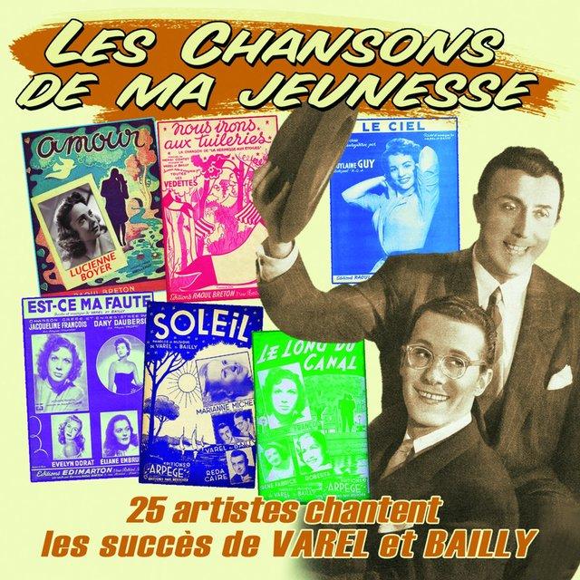 """Couverture de 25 artistes chantent les succès de Varel et Bailly (Collection """"Les chansons de ma jeunesse"""")"""