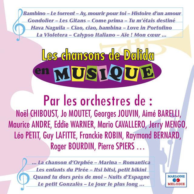 Couverture de Les chansons de Dalida en musique