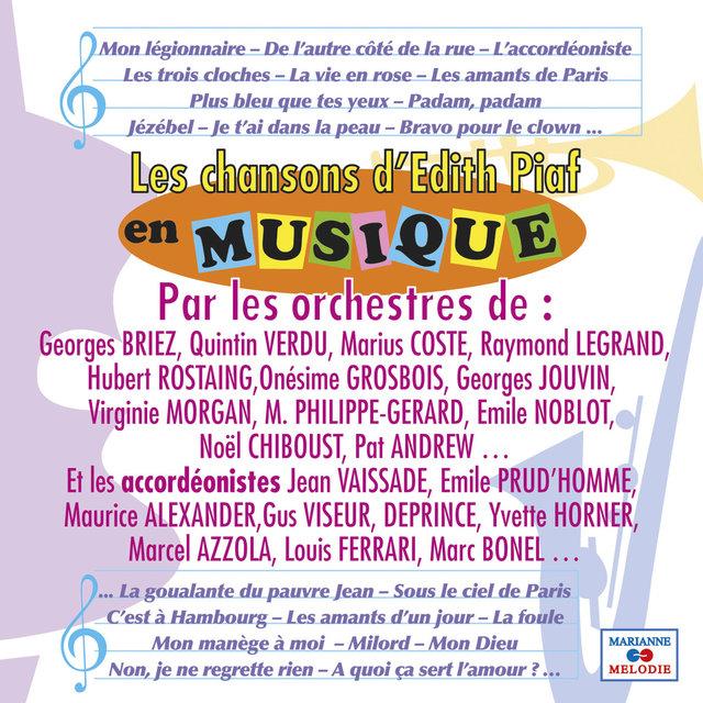 Les chansons d'Edith Piaf en musique