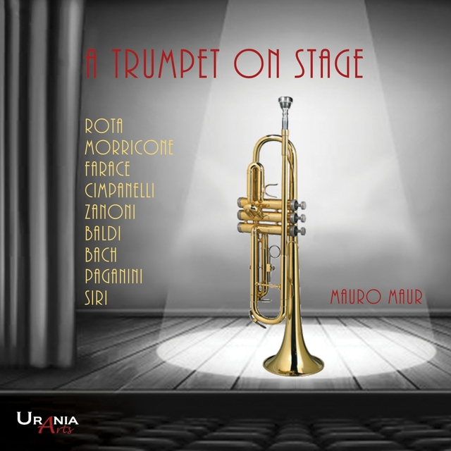 A trumpet on stage