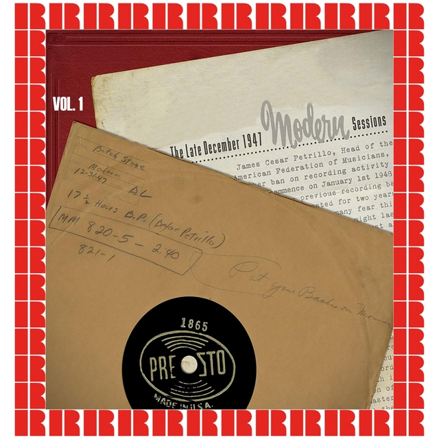 The Late December 1947 Modern Sessions, Vol. 1