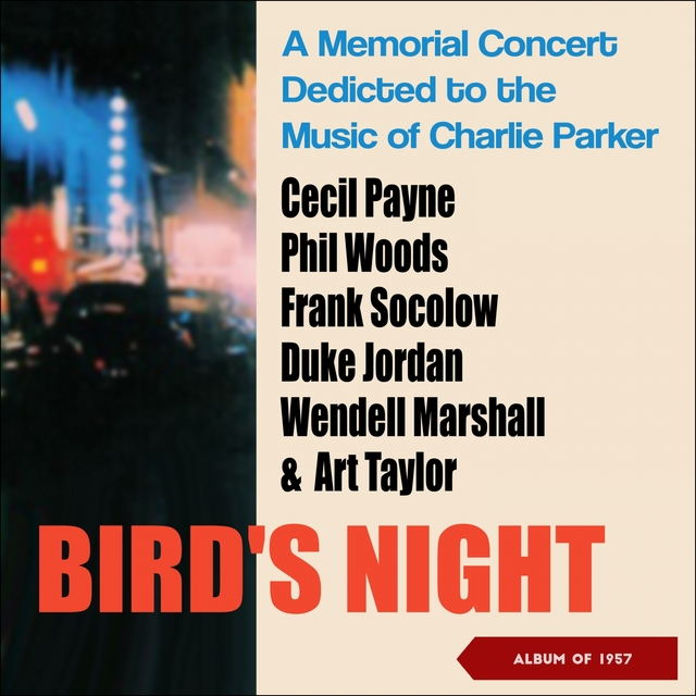 Couverture de Bird's Night: A Memorial Concert Dedicted to the Music of Charlie Parker