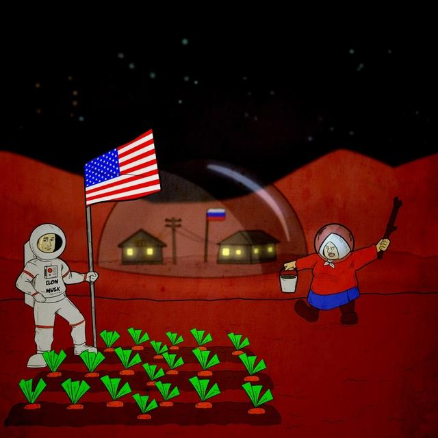 Elon Musk on Mars