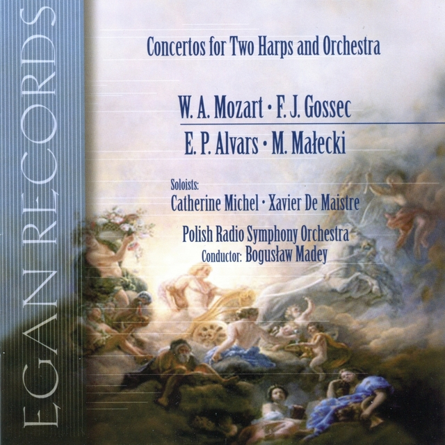 Mozart, Gossec, Alvars, Malecki: Concertos for Two Harps and Orchestra