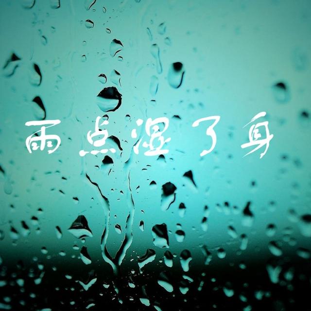 雨点湿了身