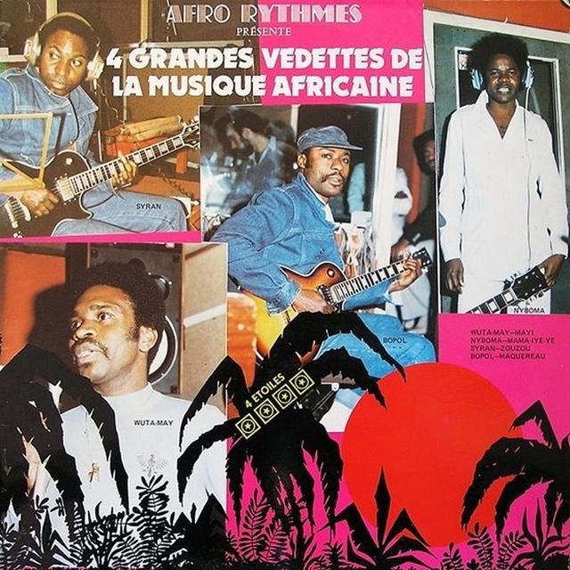 Couverture de 4 grandes vedettes de la musique africaine