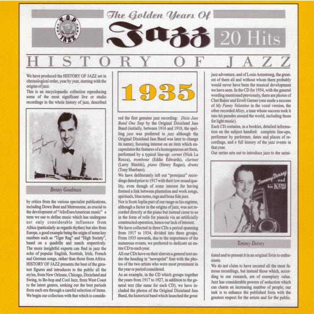 Couverture de History of Jazz 1935