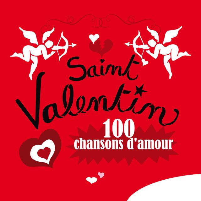Couverture de Saint Valentin, 100 chansons d'amour