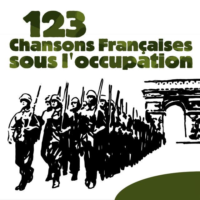 Couverture de 123 Chansons françaises sous l'Occupation