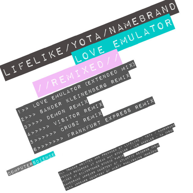 Couverture de Love Emulator Remixed
