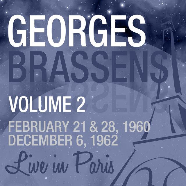 Couverture de Live in Paris, Vol. 2 - Georges Brassens