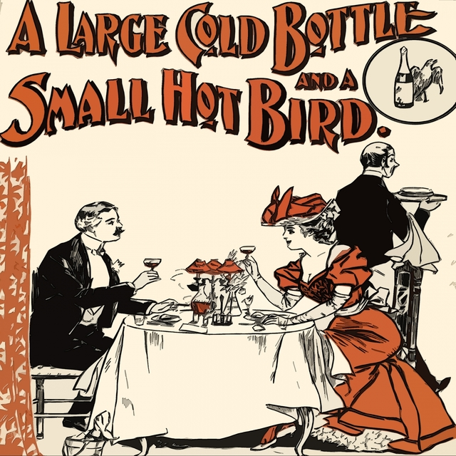A Large Gold Bottle and a small Hot Bird