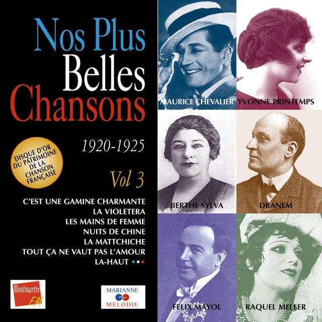Couverture de Nos plus belles chansons, Vol. 3: 1920-1925