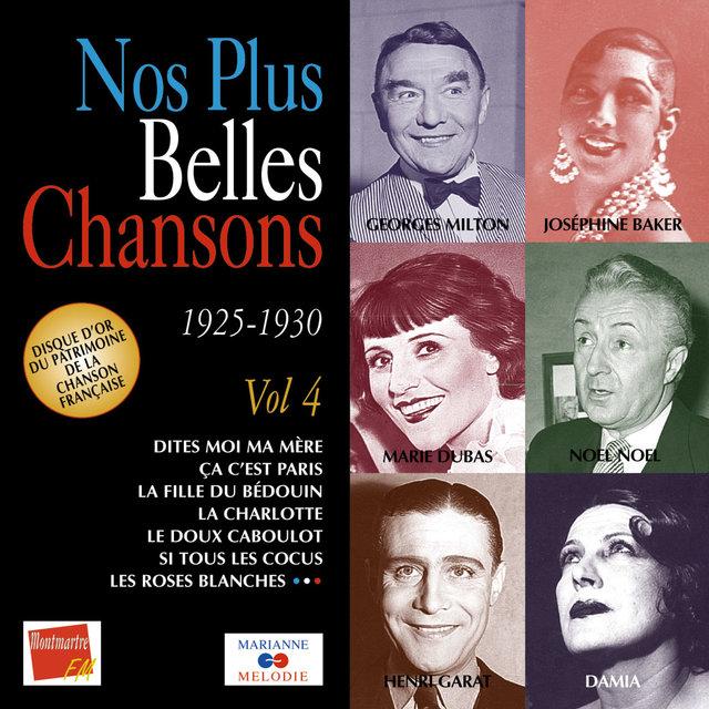Couverture de Nos plus belles chansons, Vol. 4: 1925-1930