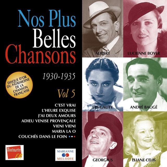 Couverture de Nos plus belles chansons, Vol. 5: 1930-1935