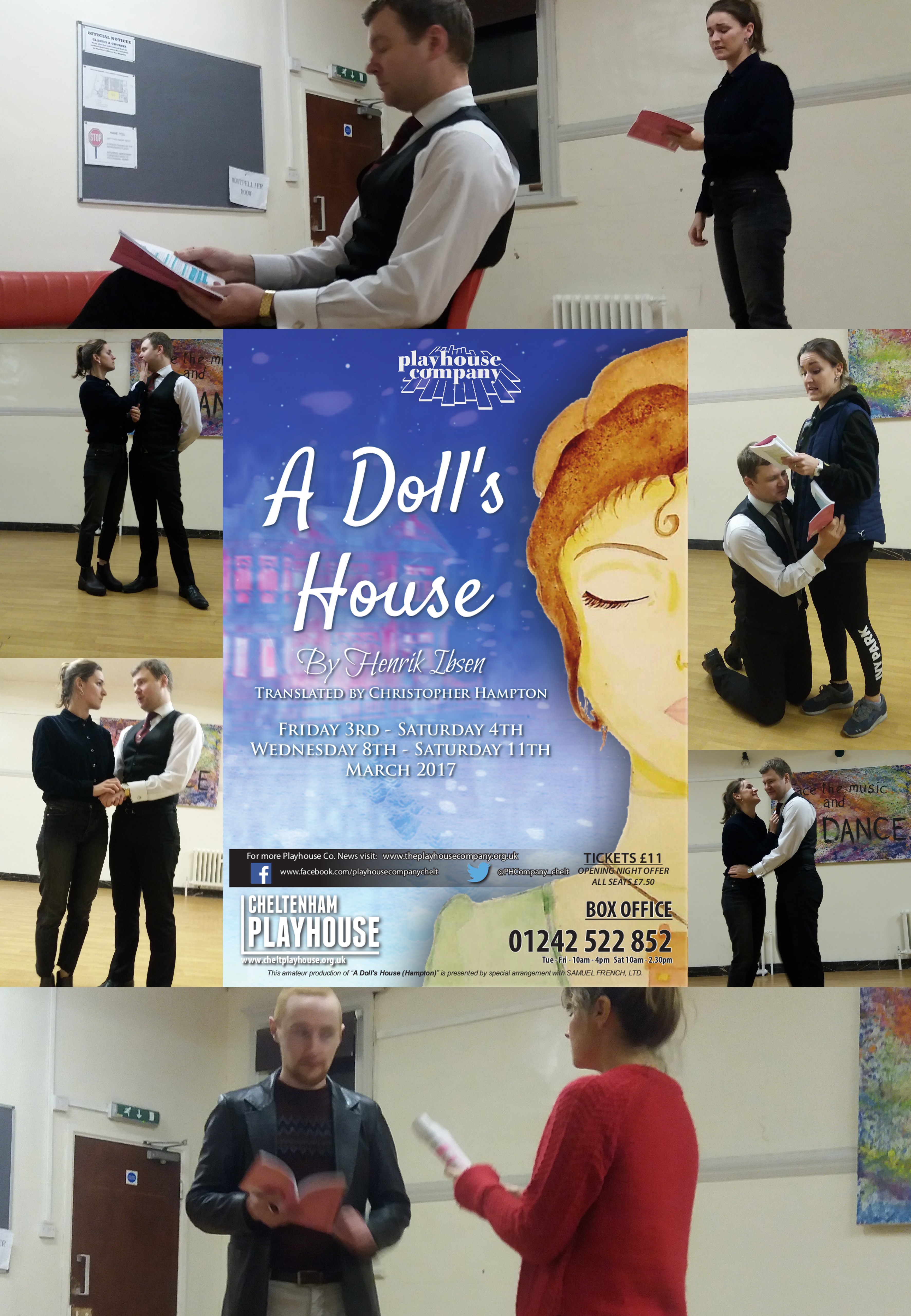 A Dolls House rehearsals collage