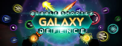 Play free game Bubble shooter : galaxy defense