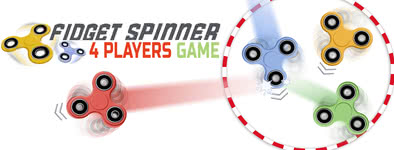 Play free game Fidget spinner: 4 players game