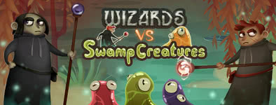 Play free game Wizards vs swamp creatures