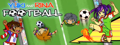 Play free game Yûki and Rina Football