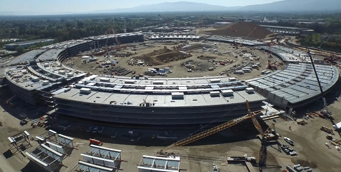 Apple campus taking shape
