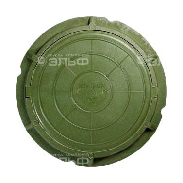 Люк полимерный легкий, 70 кН - зелёный