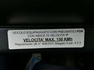Marcatura P.O.R. dei pneumatici e mancata rispondenza alle M+S Etichetta