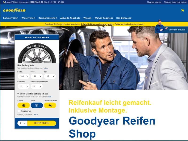 Goodyear inizia la vendita online diretta ai consumatori